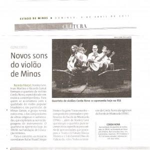 Corda Nova (Estado de Minas 23 Abril 2011)